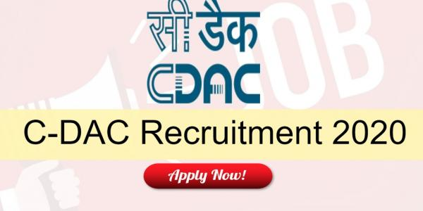 CDAC Recruitment 2020 | Freshers | Project Engineer/ Project Support Staff | 170 Posts